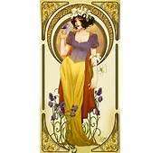 Stellar Four Art Nouveau Disney Princesses