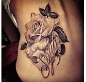 Black And Gray Rose Script Tattoo  Antonio Macko Todisco The