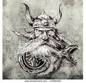 Tattoo Art Sketch Of A Viking Warrior Illustration An Ancient