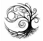 Tribal Yin Yang Tree Tattoo Design