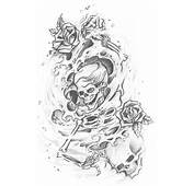 Skull Adn Demon Tattoo Design Img461 «SKULLS DEMONS «Flash Tatto