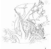 Show Me More Sunken Pirate Ship Colouring Pages