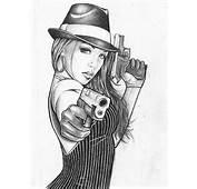 Gangster Tattoo Drawings Gangsta Girl Drawing