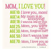 Mom I Love You  Quotes Inspiration
