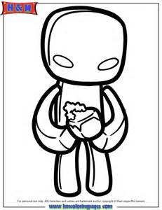 Enderman Coloring Page | H & M Coloring Pages