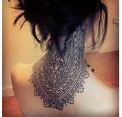 Ornament Full Neck Tattoo Design – Ideas For Girls