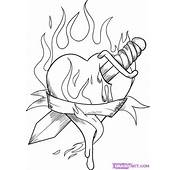 How To Draw A Burning Heart Step By Tattoos Pop Culture 1305