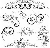 Swirls Decor Design Vector Set 01