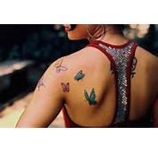Butterfly Tattoos On The Shoulder Blade For Girls