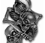 Evil Skulls Tattoos Designs