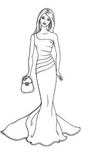 barbie fashion coloring page, printable barbie fashion coloring page ...