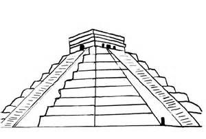 mayan prymids colouring pages