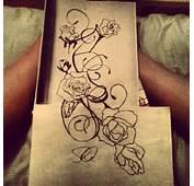 Rose And Vine Tattoo Sketch By Sd2kool4u