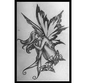 Black And White Fairy Tattoos