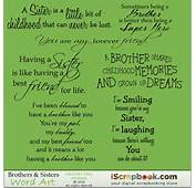 Brothers &amp Sisters Word Art  $300