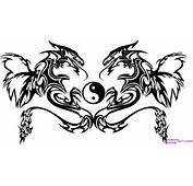 How To Draw Twin Dragon Trible Art Step By Tribal Pop