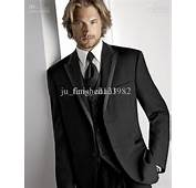 Wholesale  Black Groom Tuxedos 2013 New Mens Suits Groomsman Formal