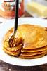 Easiest Pancake Mix Pumpkin Pancakes - Kim's Cravings