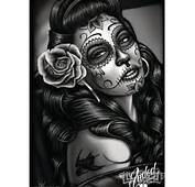 David Gonzales Feature Artist Artwork  Dia De Los Muertos Art Pint