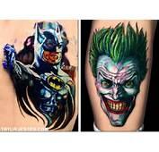 Tatuajes Super Heroes Joker Y Batman Plasmados En Un Tattoo