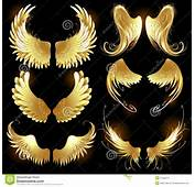Golden Wings Of Angels Stock Images  Image 27398374