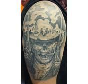 Wonderful Cowboy Tattoo Design For Guys