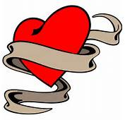 Heart With Ribbon Tattoo Designs  Design Ideas
