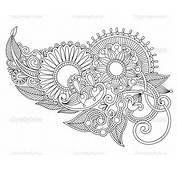 Henna Floral Tattoo Design — Stock Vector © Karakotsya 8045027
