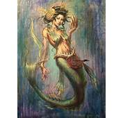 Geisha Mermaid Painting By Angotti81 On DeviantArt