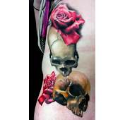 Realistic Skulls And Roses By Dean Lawton TattooNOW