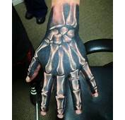 Bones Black And White Shading Hand Tattoo Grey Tattoos