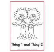 Thing 1 And 2 Dr Seuss Coloring Pages Colouring
