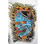 Tattoo Topeng Jepang  Japanese Mask Album 1 Gambar Seni