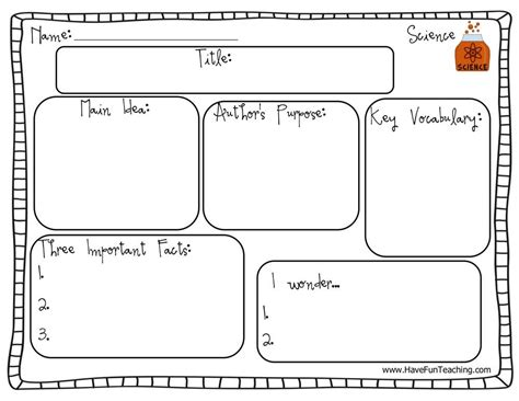 Biography Graphic Organizer For Kids Biography Graphic Organizer