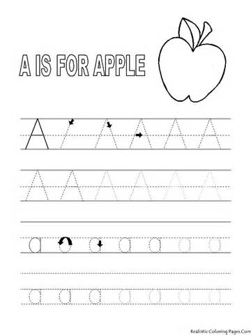 Free Worksheets » Letter A Tracing Page - Free Printable ...