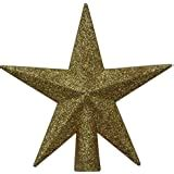 "4"" Petite Treasures Silver Glittered Mini Star Christmas Tree Topper"