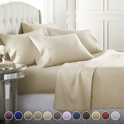 6 Piece Hotel Luxury Soft 1800 Series Premium Bed Sheets Set,
