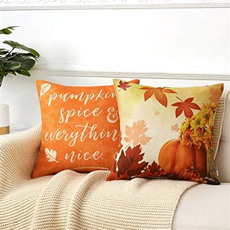 Anickal Set of 4 Halloween Decorative Throw Pillow Covers with