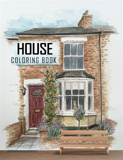 Architect Houses - Coloring Book: Detailed & Relaxing! Exterior Design