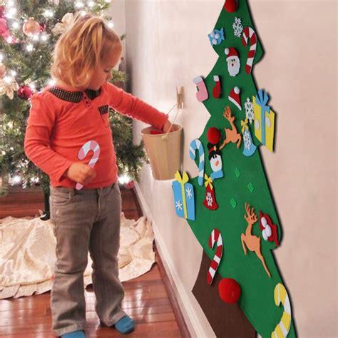Aytai DIY Felt Christmas Tree Set with Ornaments for