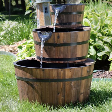 Barrel Water Feature Garden