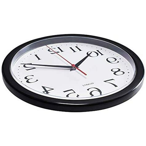 Bernhard Products Black Wall Clock Silent Non Ticking - 10