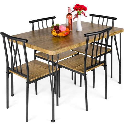 Best Choice Products 5 Piece Kitchen Dining Table Set W/