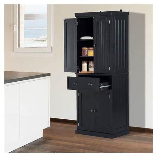 Black Kitchen Pantry Storage Cabinet kitchen design & decor ideas gallery