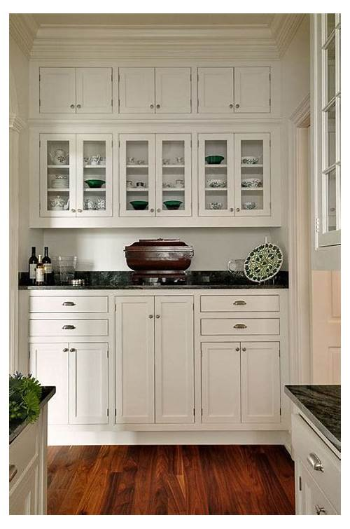 Black White Kitchen with Butlers Pantry Cabinets kitchen design & decor ideas gallery