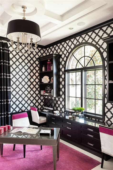 Black and White Home Office office design & decor ideas gallery