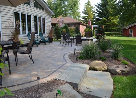 Brick Patio Landscaping patio design & decor ideas gallery