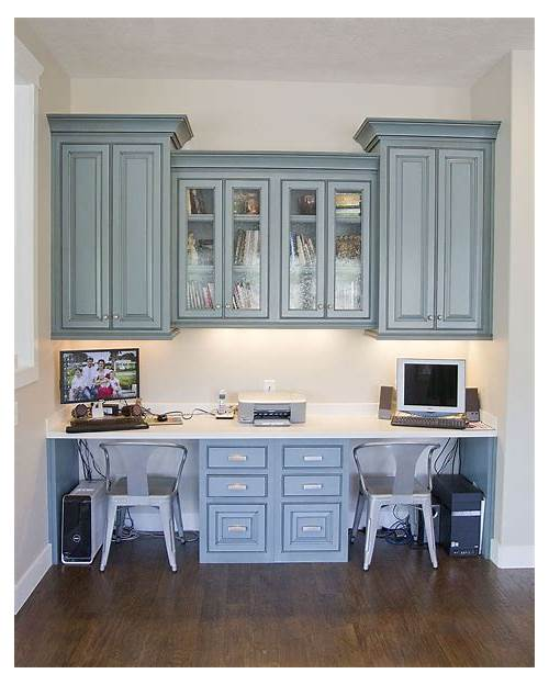 Built in Desks for Home Office in Kitchen office design & decor ideas gallery