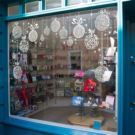 Christmas Decorations - Holiday Window Sticker Clings - 12 Pack