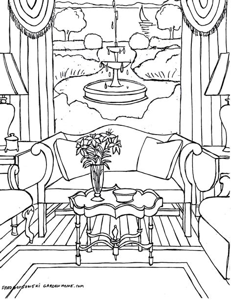 Colorful Home: Interior Design Coloring Book for Adults (House